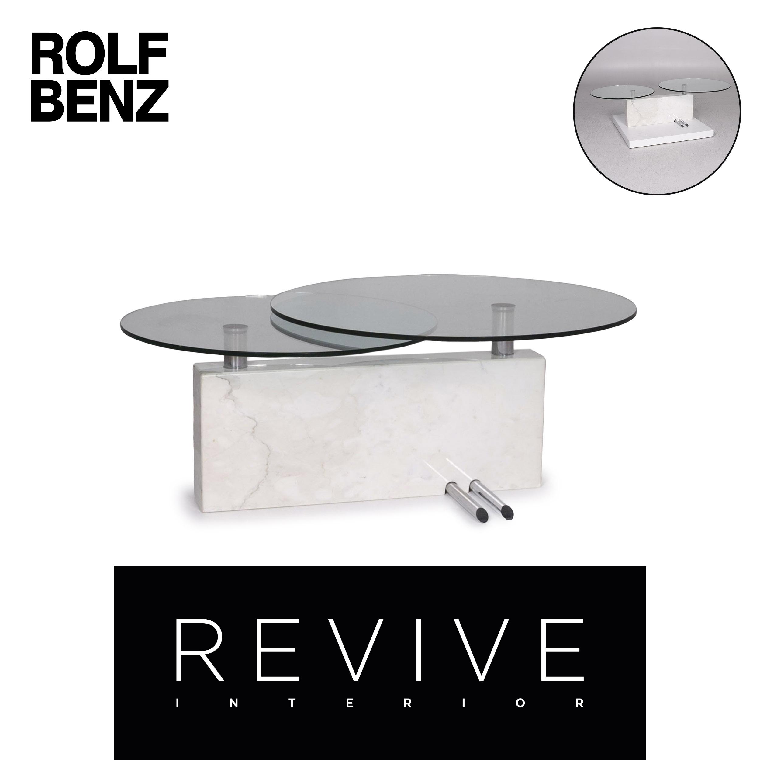 Rolf Benz Vidrio Marmol Sofa Mesa Mesa De Funcion 12191 Ebay