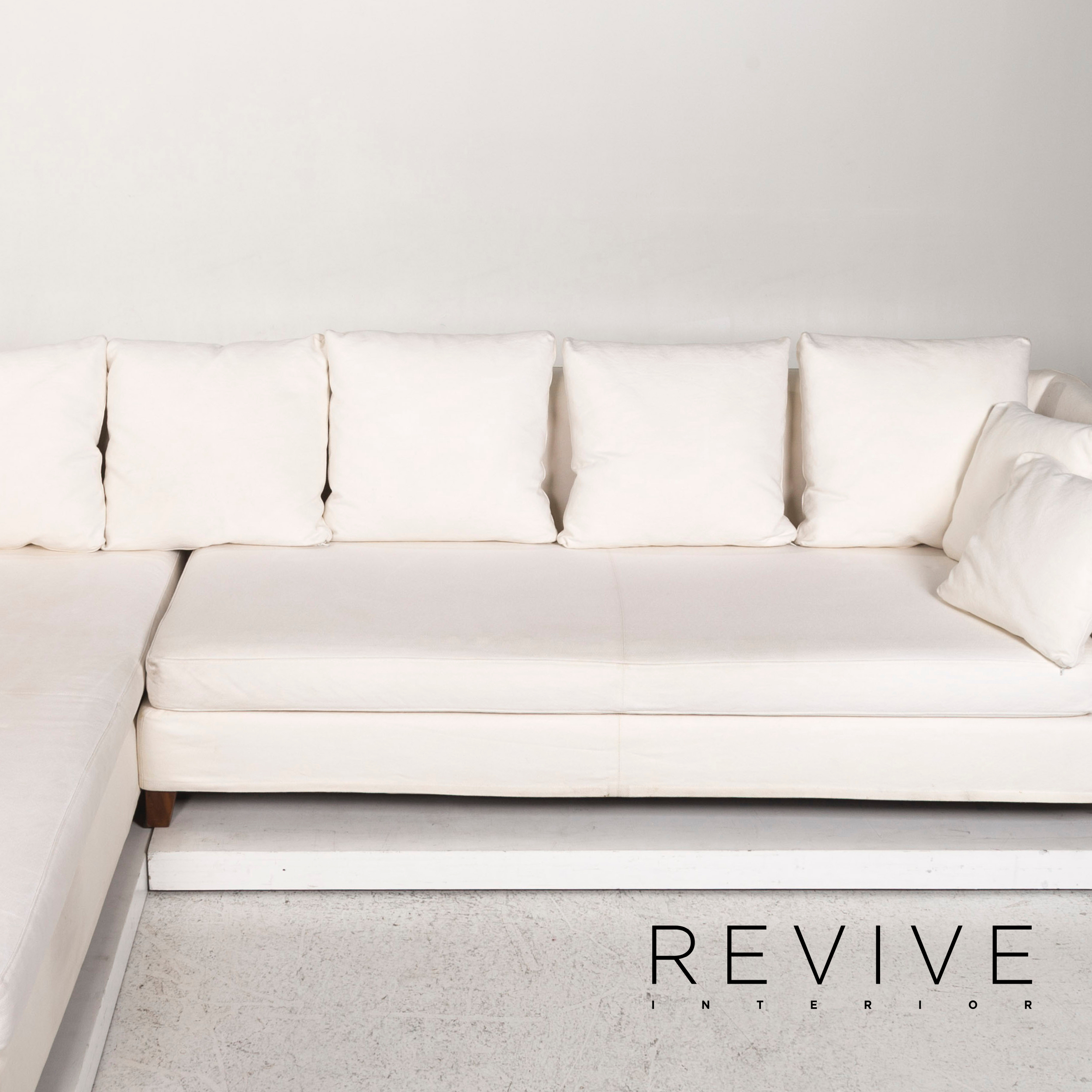 Flexform Stoff Ecksofa Creme Sofa Couch #12465   eBay