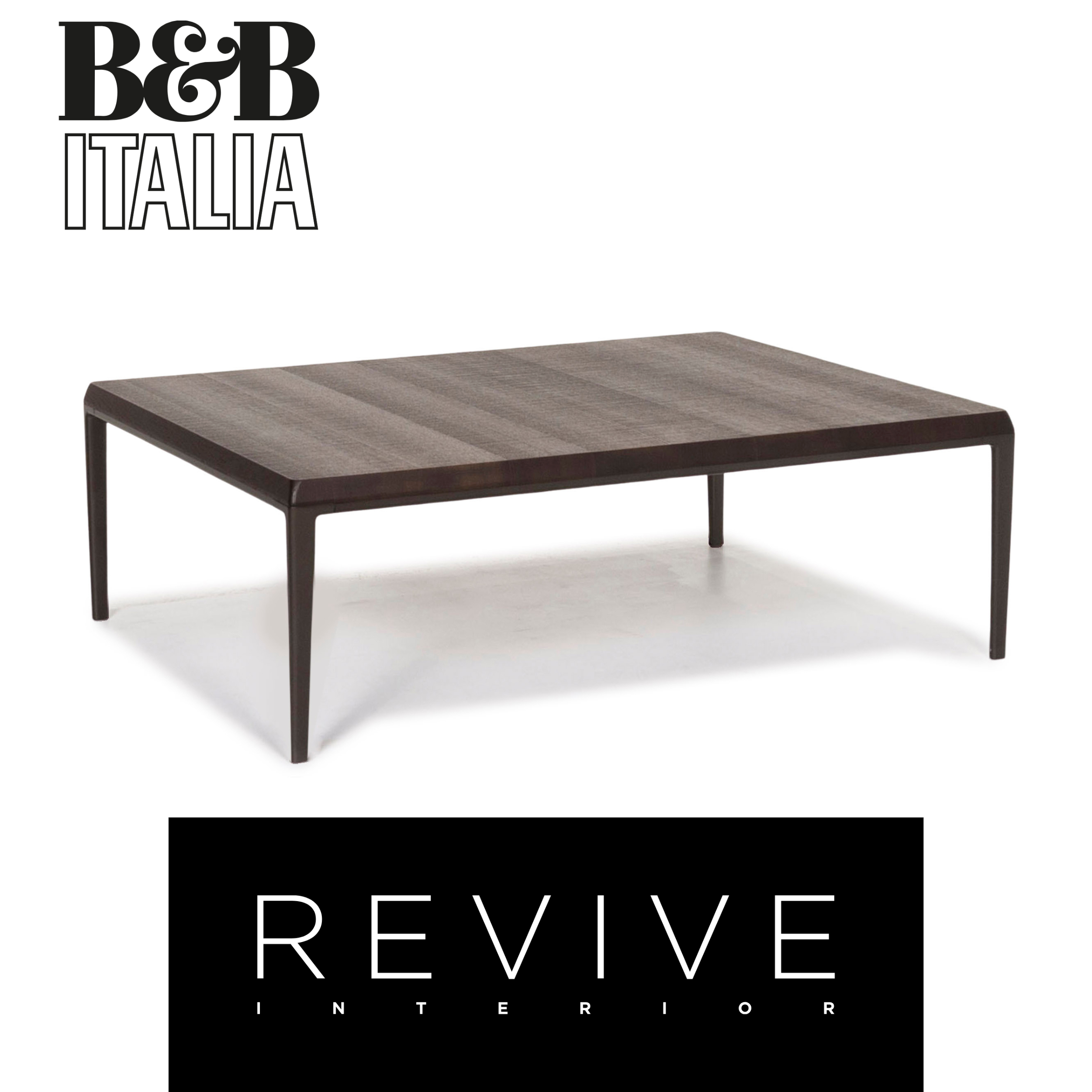 Details zu B&B Italia Michel MT 120 Holz Couchtisch Braun #13166
