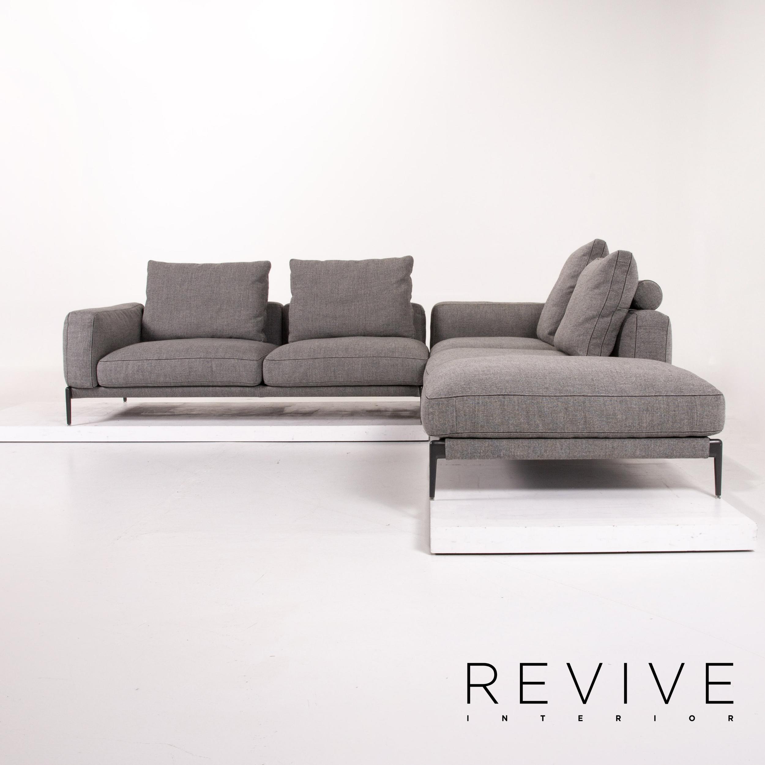 Flexform Romeo Stoff Ecksofa Grau Sofa Couch #13740   eBay