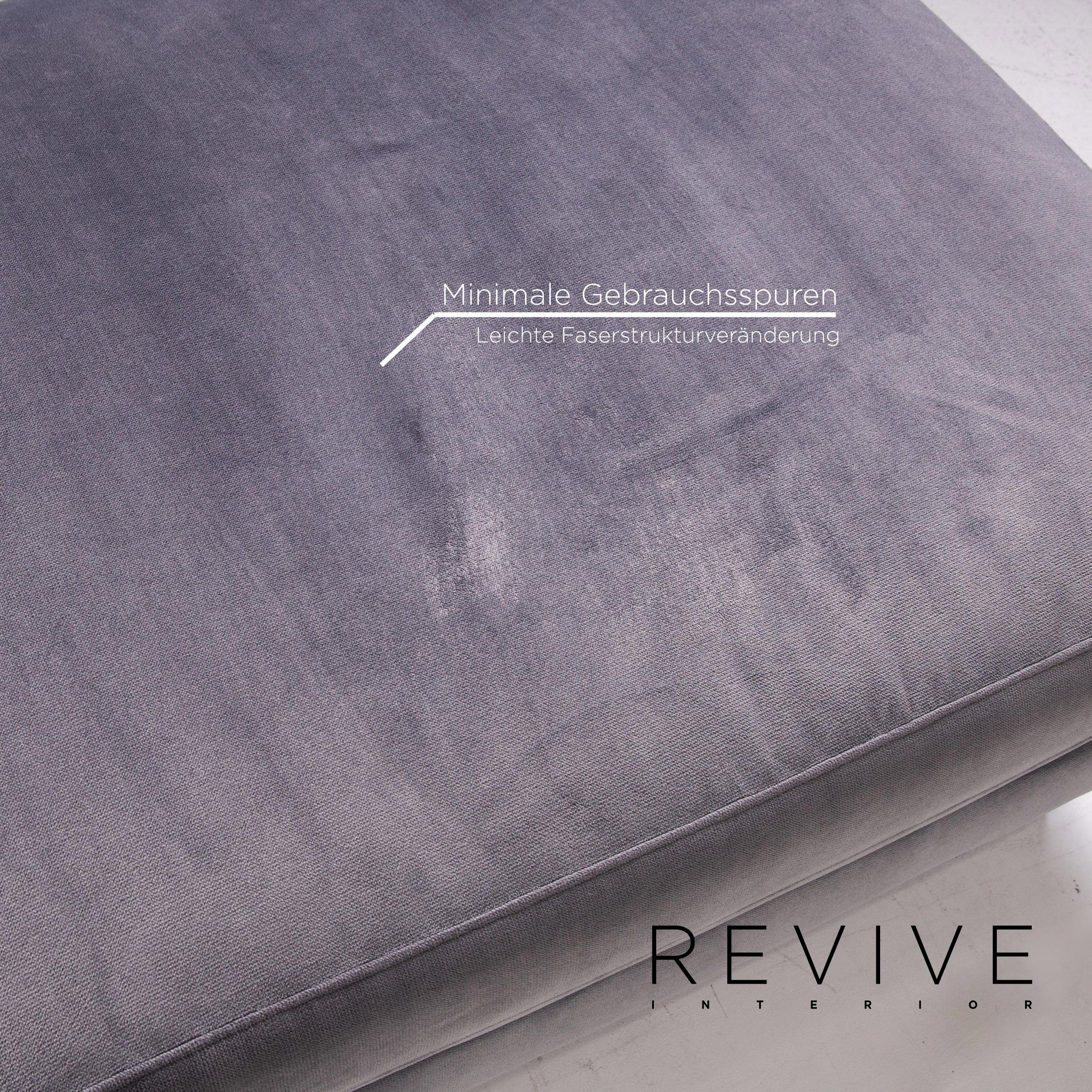 Bolia Scandinavia Remix Velvet Fabric Sofa Incl. Stool ...