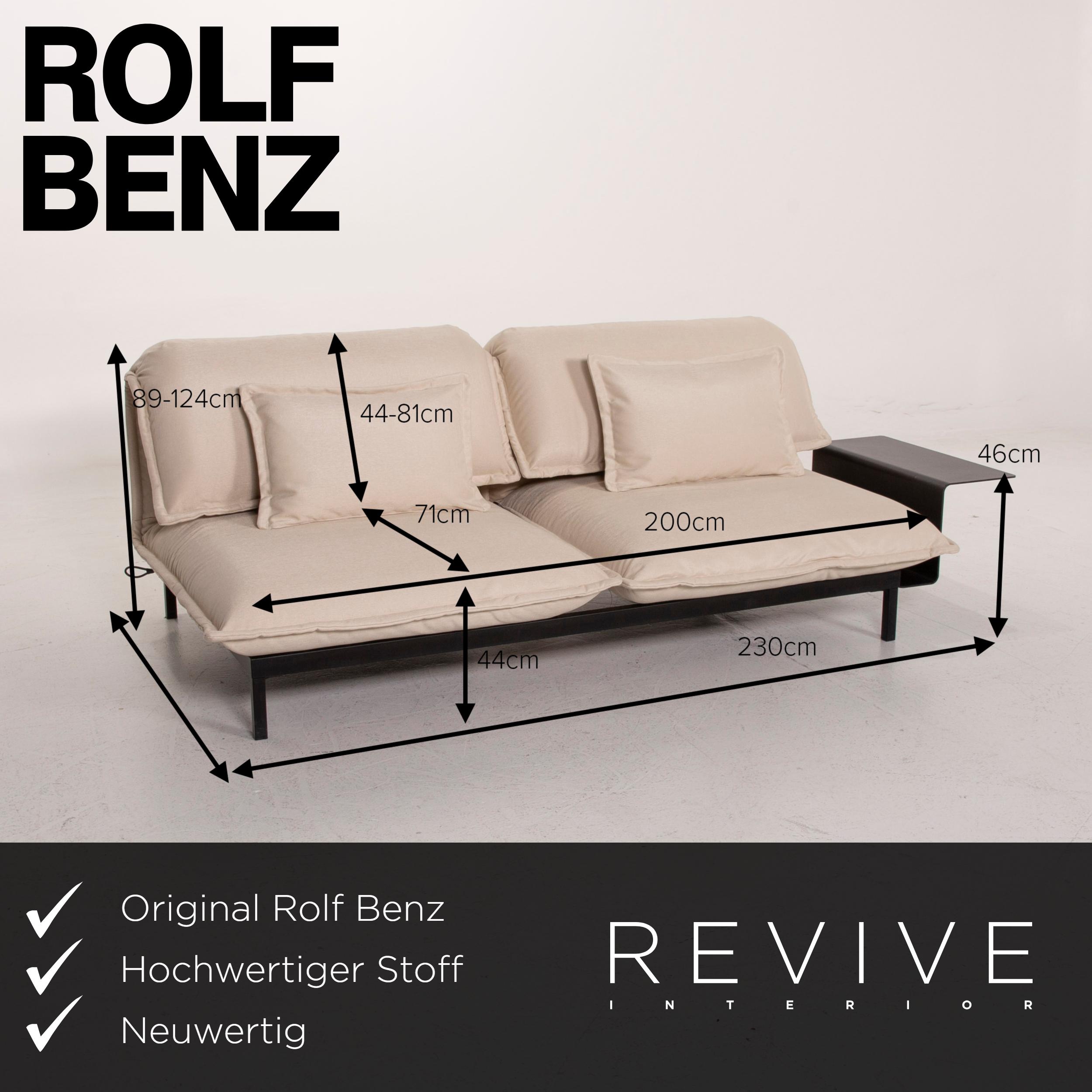 Rolf Benz Nova Fabric Sofa Grey Two Seater #14681   eBay