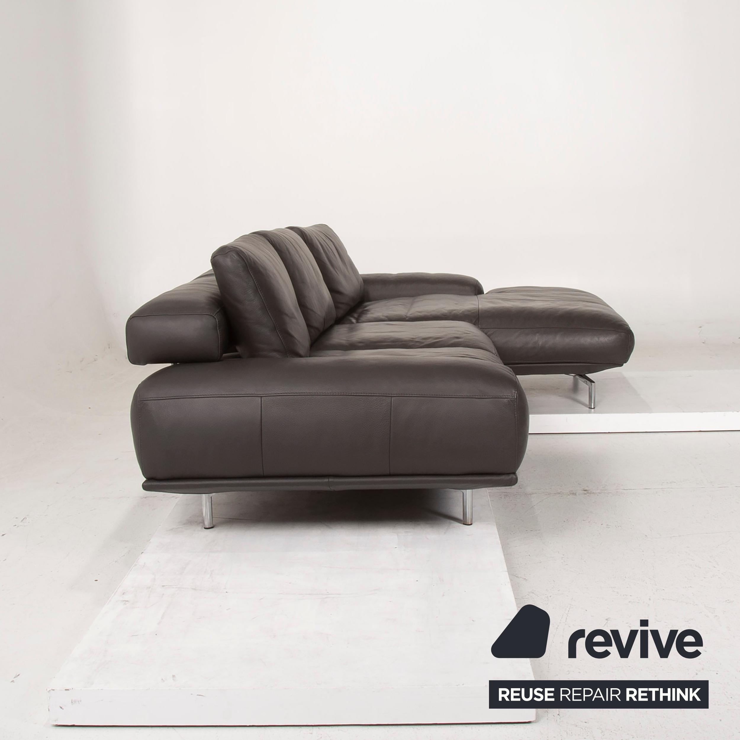 Ewald Schillig Brand Shine Leder Sofa Grau Ecksofa Elektrische Funktion Outlet Ebay