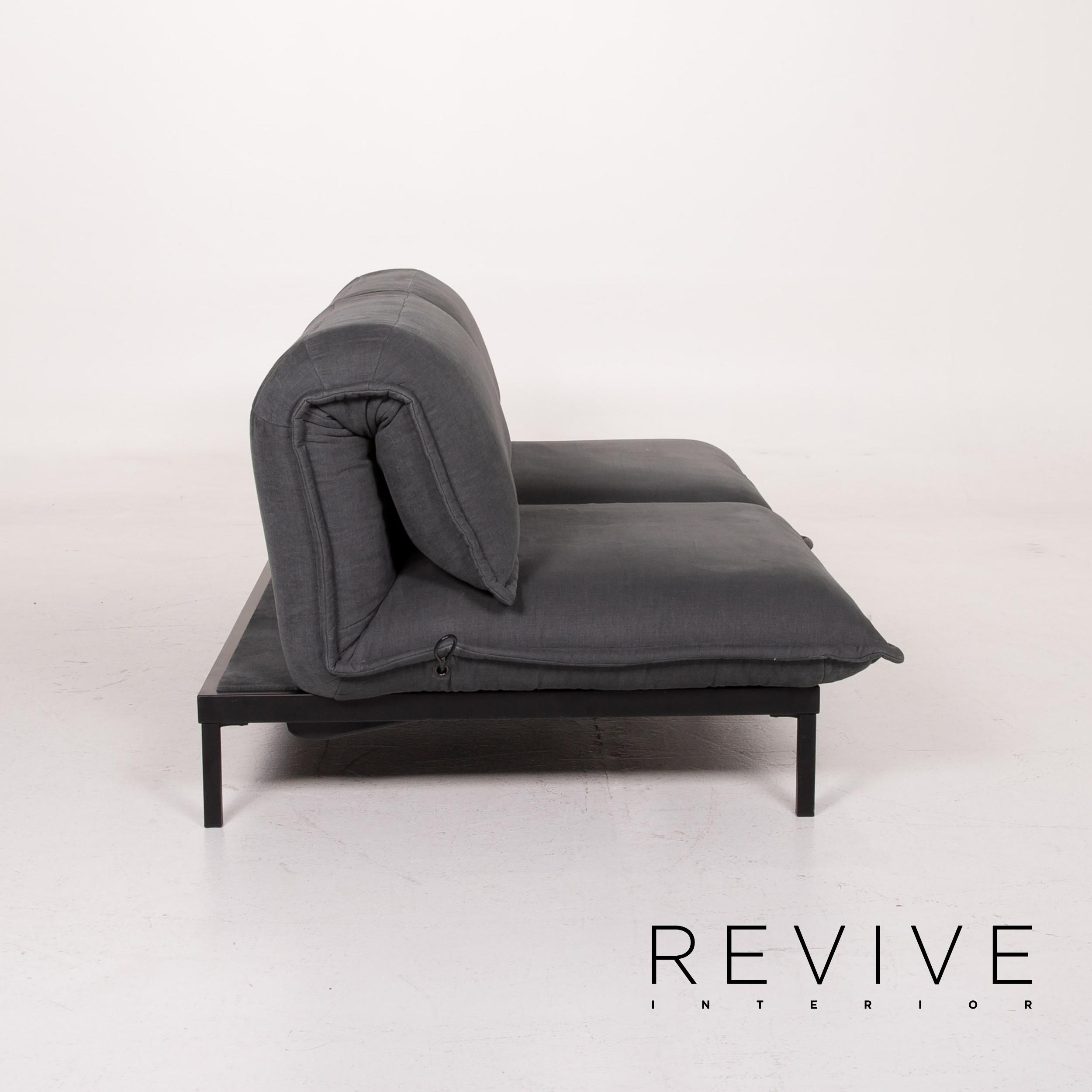 Rolf Benz Nova Fabric Sofa Grey Two Seater Sleep Function ...