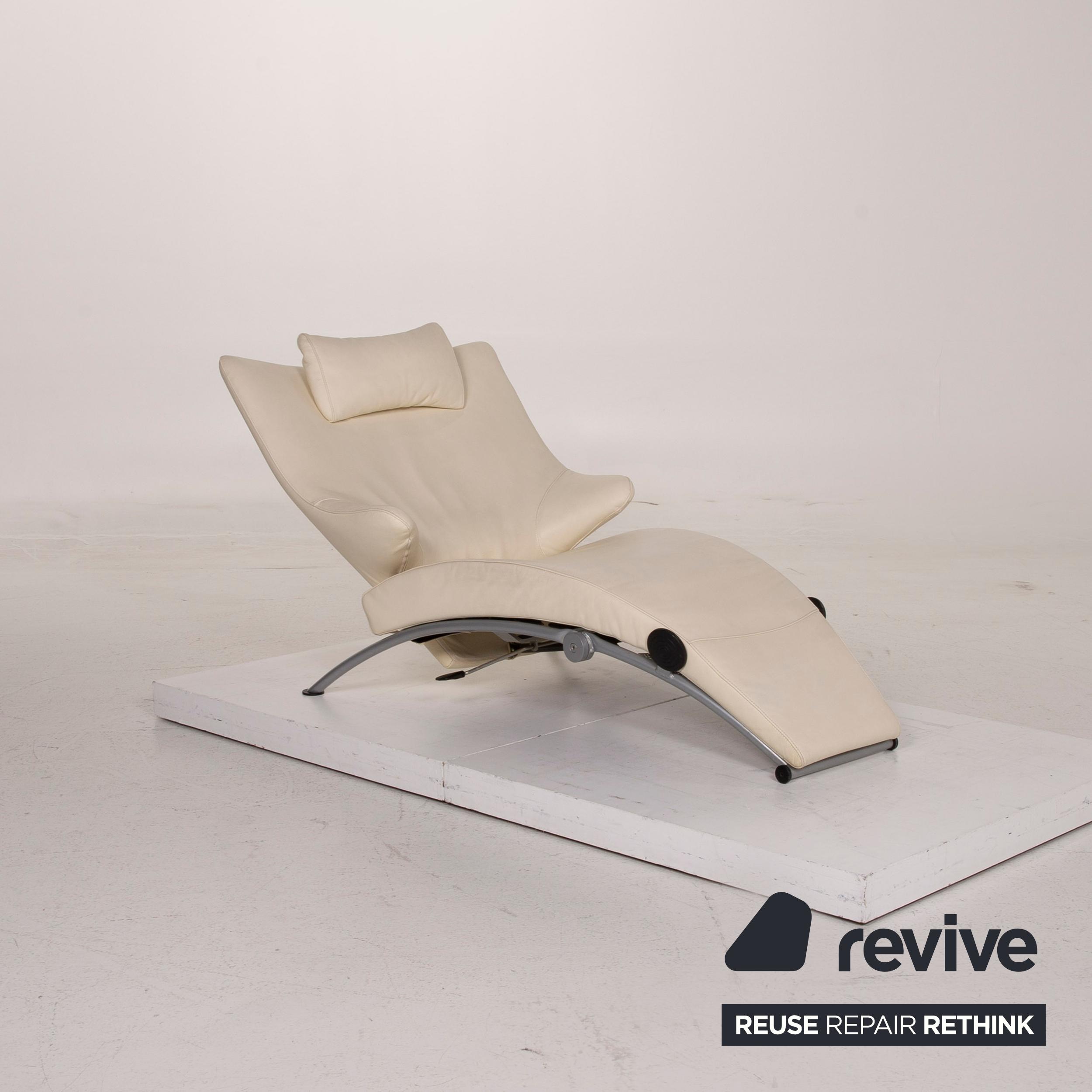 Wk Wohnen Solo 699 Leder Sessel Creme Liege Relaxfunktion 15446 Ebay