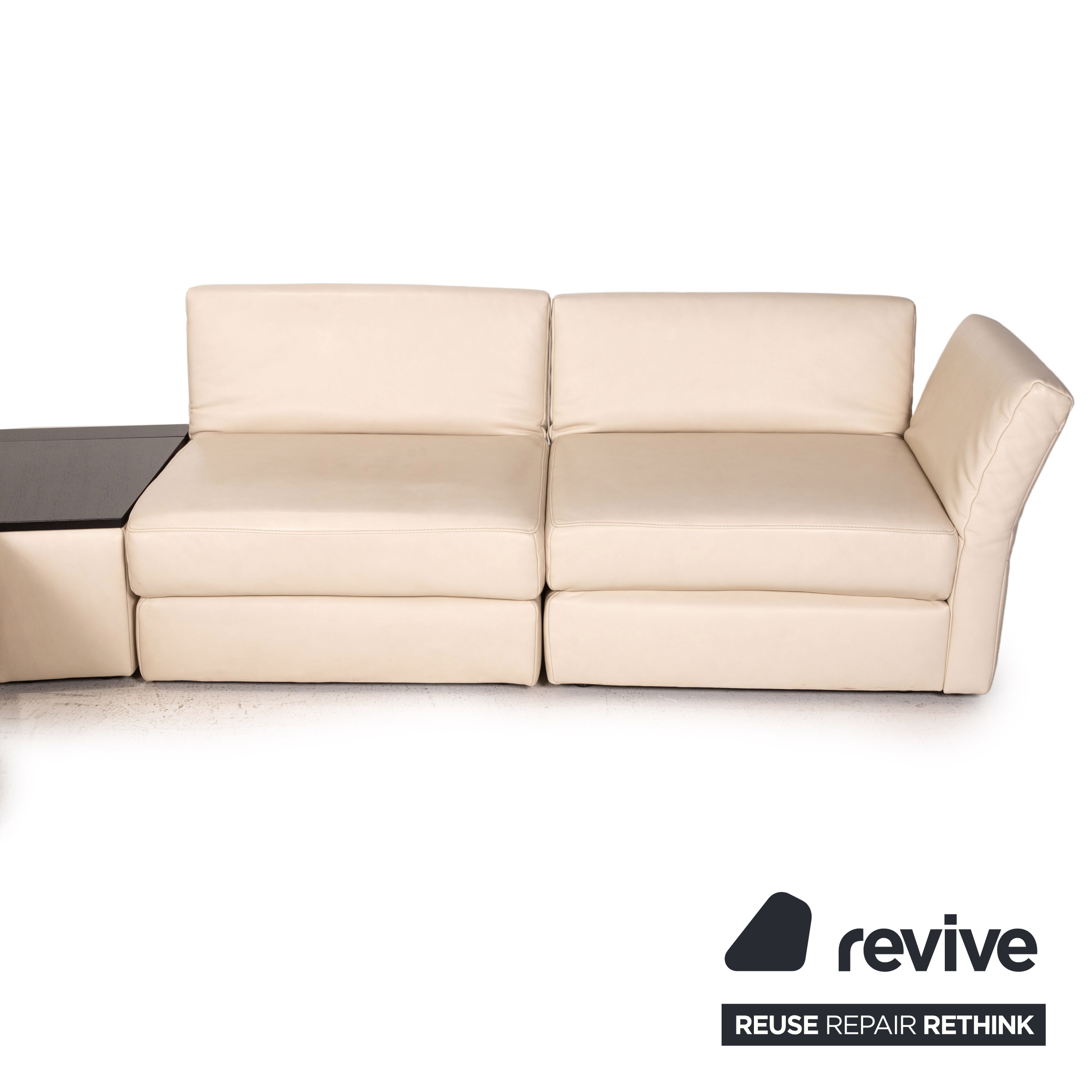 Koinor Avanti Leather Corner Sofa Beige Sofa Couch Function   eBay